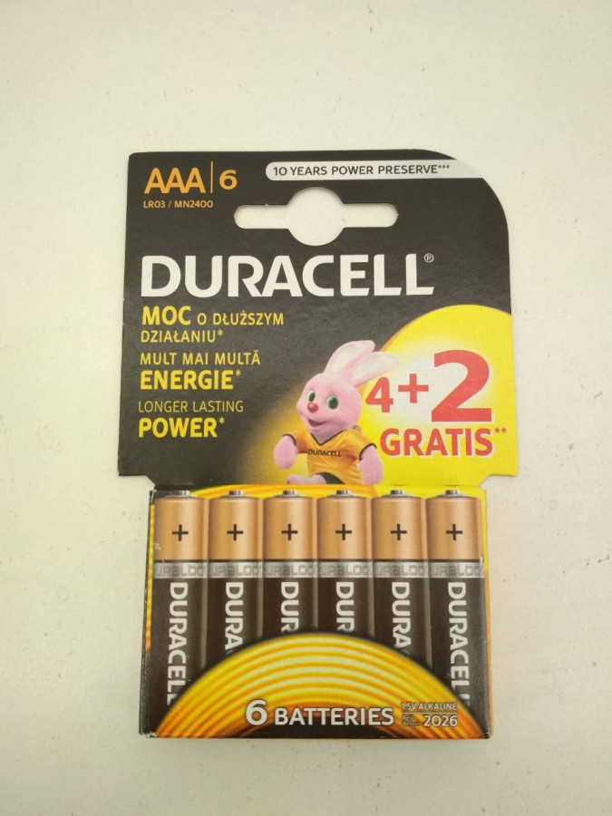 Батарейка DURASELL R3 ( Alkaline)блістер 1*12  уп 144 шт