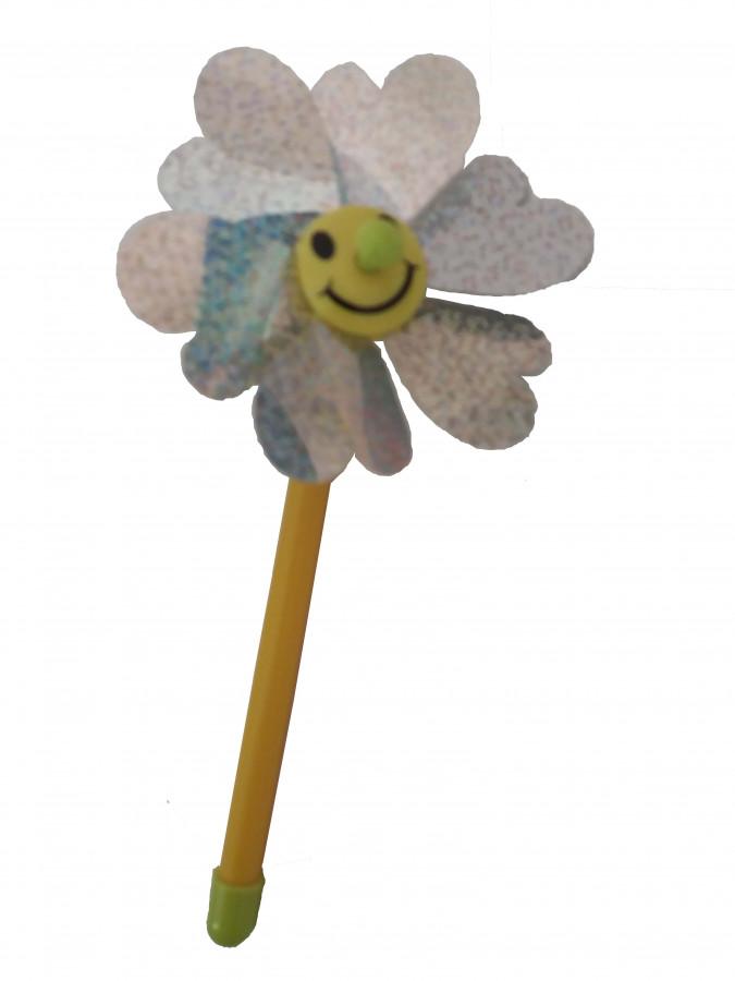 Вітрячок (960шт) вертушка 1 шт., розмір маленький, діам. 10см, палочка 17см, розібр.