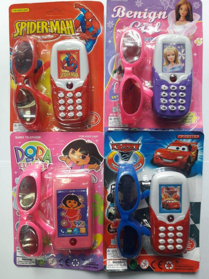 Телефон (210шт) ,муз-звук на листі 19-3,5-13 см