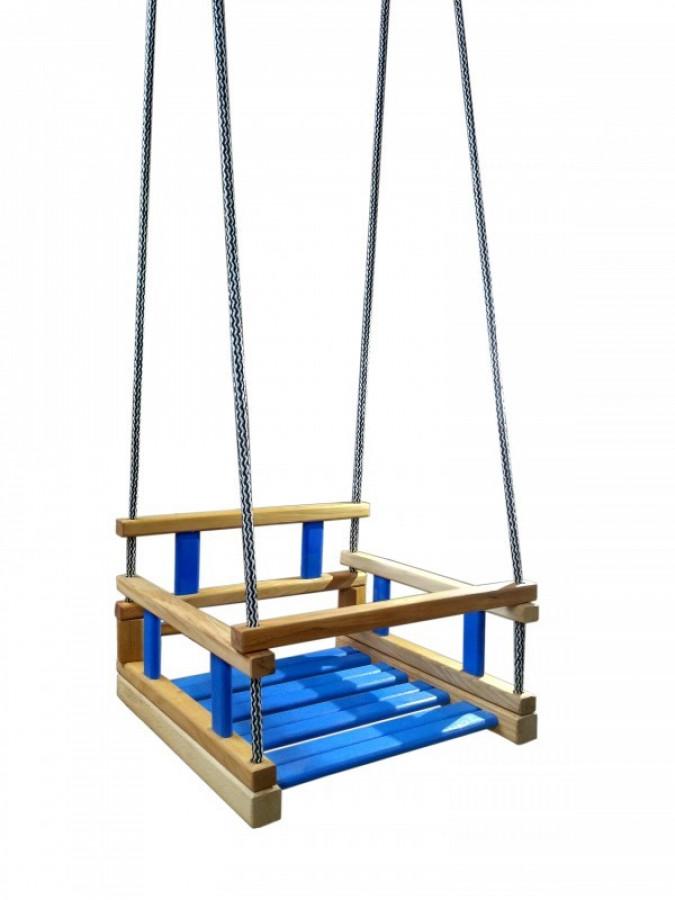 Гойдалка підвісна Arinwood Малюк Синя 05-001B
