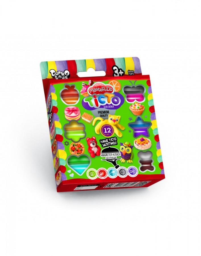 Набір креативної творчості 'Тiсто для лiпки 'Master Do' укр коробка 12 кольорів  (20шт), TMD-02-04