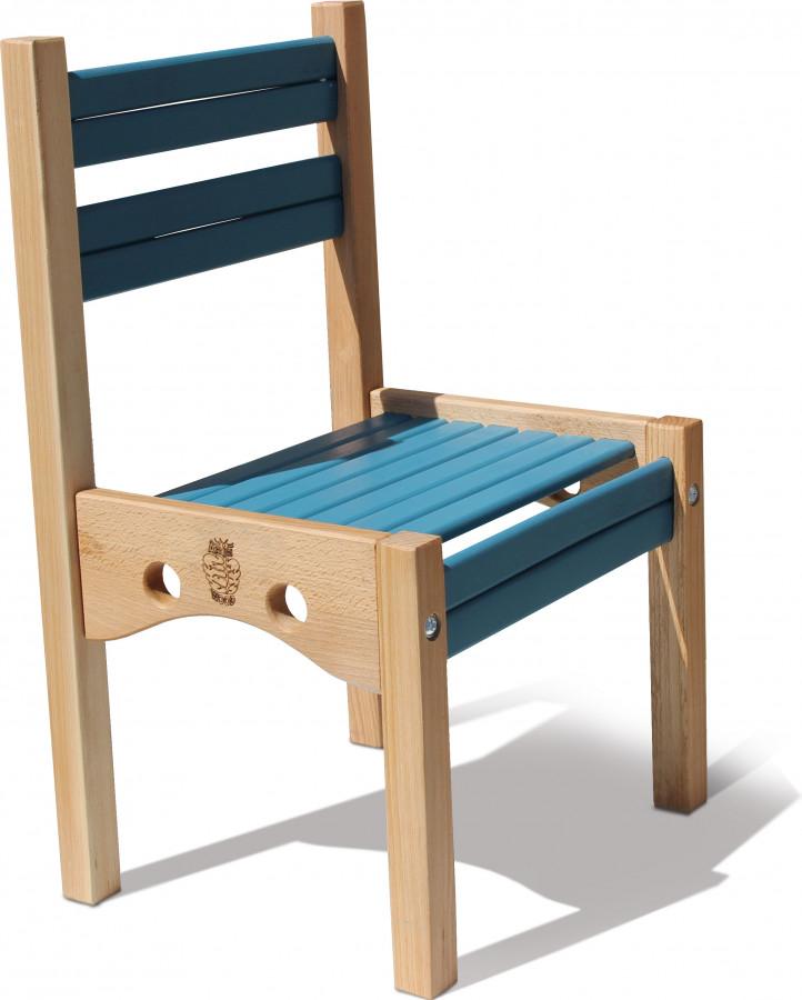 Стільчик дерев'яний 'Ведмедик' Синій  (1 ростова група) h1=52см.,h2=26см. сидіння 34Х26см