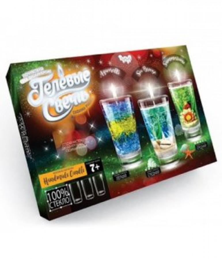 Набір креативної творчості 'Гелеві свічки' своїми руками (4шт), GS-02-01, GS-02-02