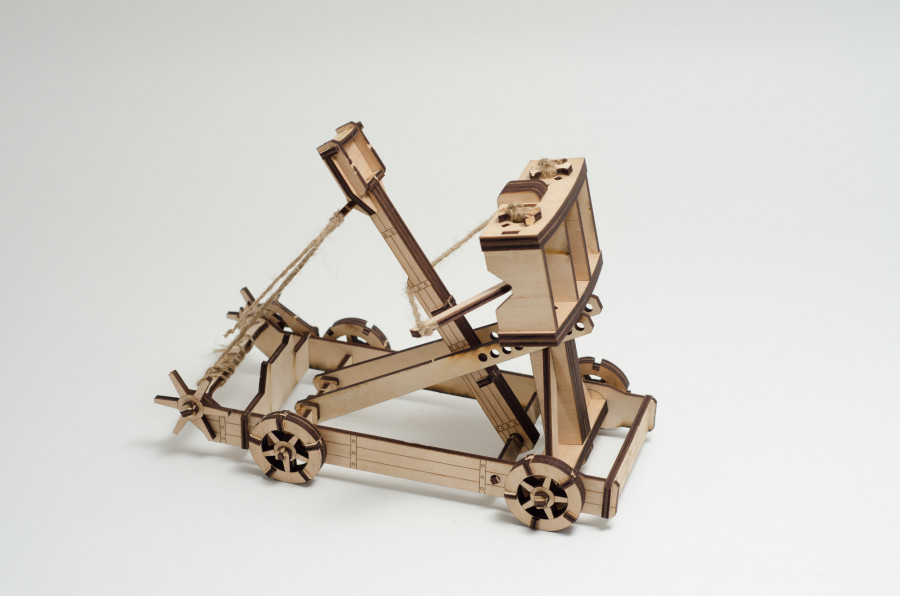 Пазл 3D ,,Катапульта,, серія ,,Стародавня військова техніка,,
