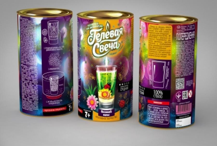 Набір креативної творчості 'Гелева свіча' в тубусі (12шт)GS-02-01