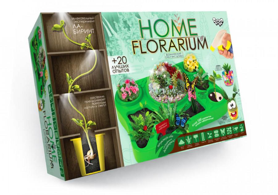 Безпечний освітній набір для вирощування рослин 'HOME FLORARIUM' укр (5шт)HFL-01-01U