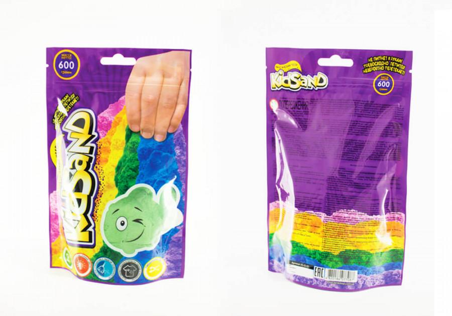 Набір креативної творчості 'Кінетичний пісок'KidSand' пакет 600г (12шт), KS-03-02