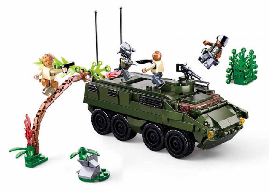 Конструктор M38 (12шт) військовий транспорт, фігурки, 420дет, в кор-ці, 47,5-28,5-6,5см