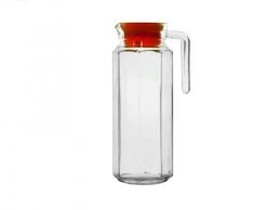 Графін скляний з пластиковою кришкою 1.0л MS-2690 (20шт)