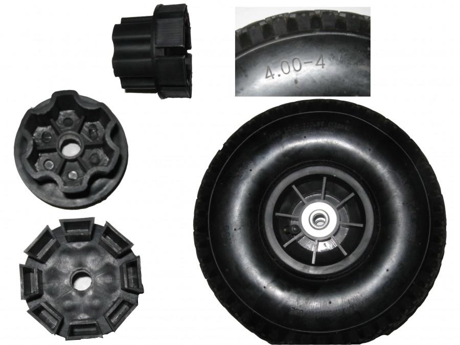 Колесо WHEEL (1шт) резинове з перехідником до машини М 2391/M 2392