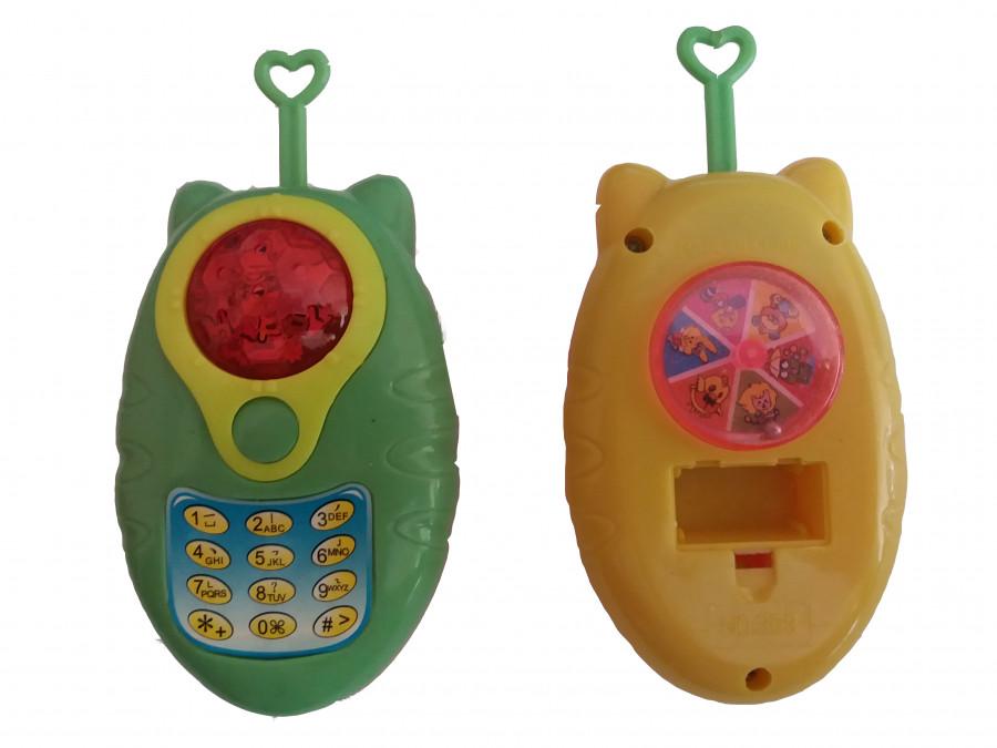 Телефон з вушками (144шт) в кульку, 11,5 см., в кульку