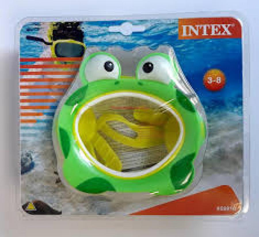 Маска для плавання (12шт) дитяча, від 3 до 8 років, 2 вида, в слюді, 23-20-6см