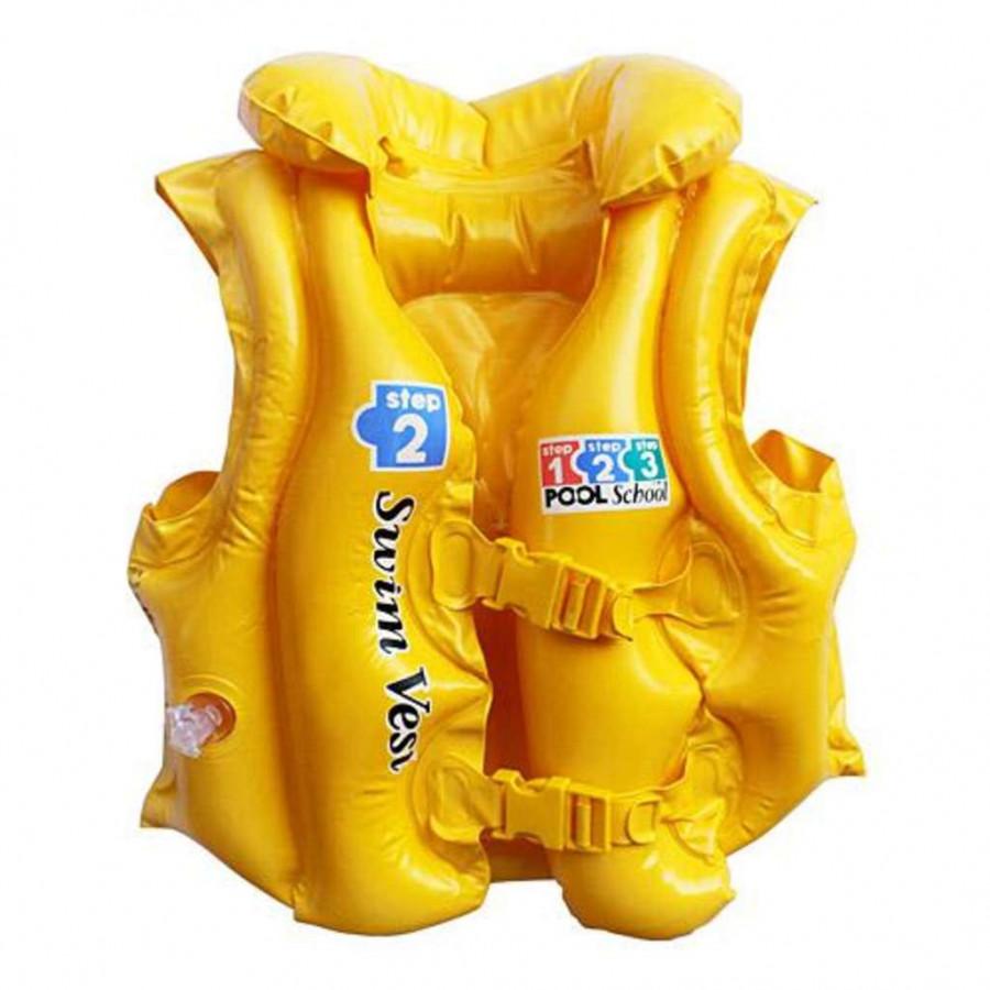 Жилет (24шт) 50-47см, 3-6 роки, жовтий, в коробці, 19-13-4см