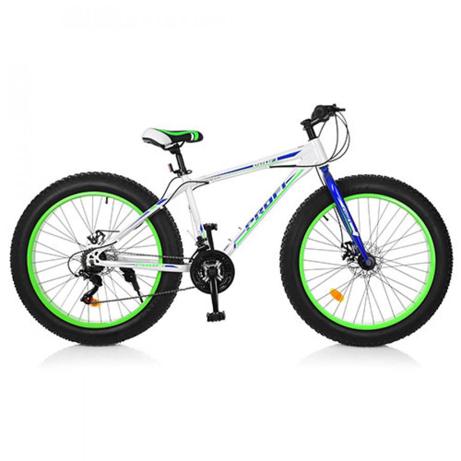 Велосипед 26' EB26POWER 1.0 S26.3 (1шт) сталь.рама 17',Shimano 21SP,алюм.DB,алюм.обід, 26'*4.0,білий