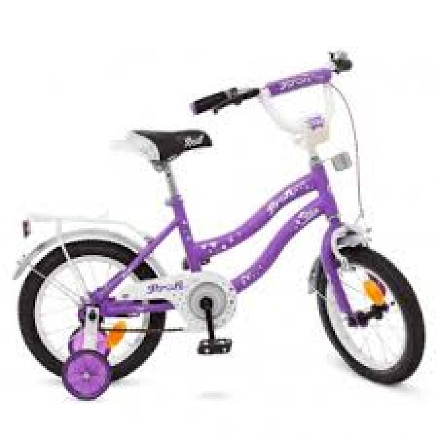 Велосипед детский PROF1 14д. Y1493 (1шт) Star,сирен.-сер,звонок,доп.колеса