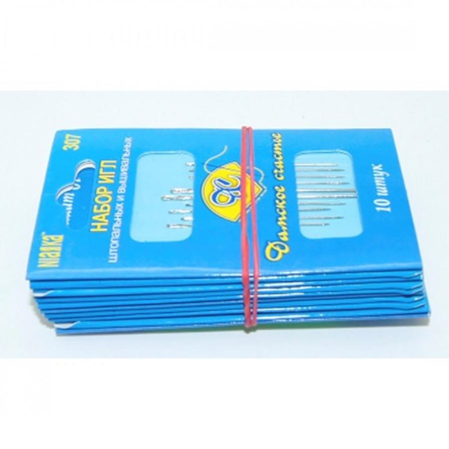 Голки для вишивання та штопання (2000шт) 10 шт на листі