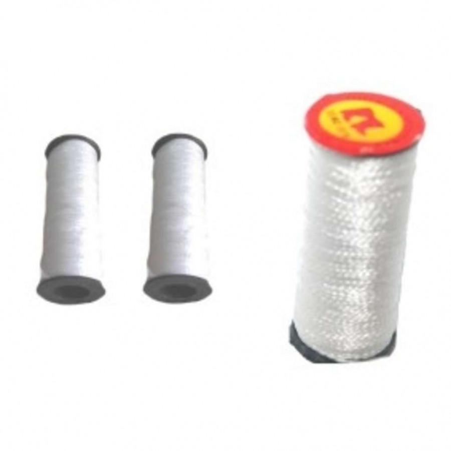 Нитки білі капрон (дратва)  (1мм*40м) (500шт) Уп 10 шт Ц за 1шт