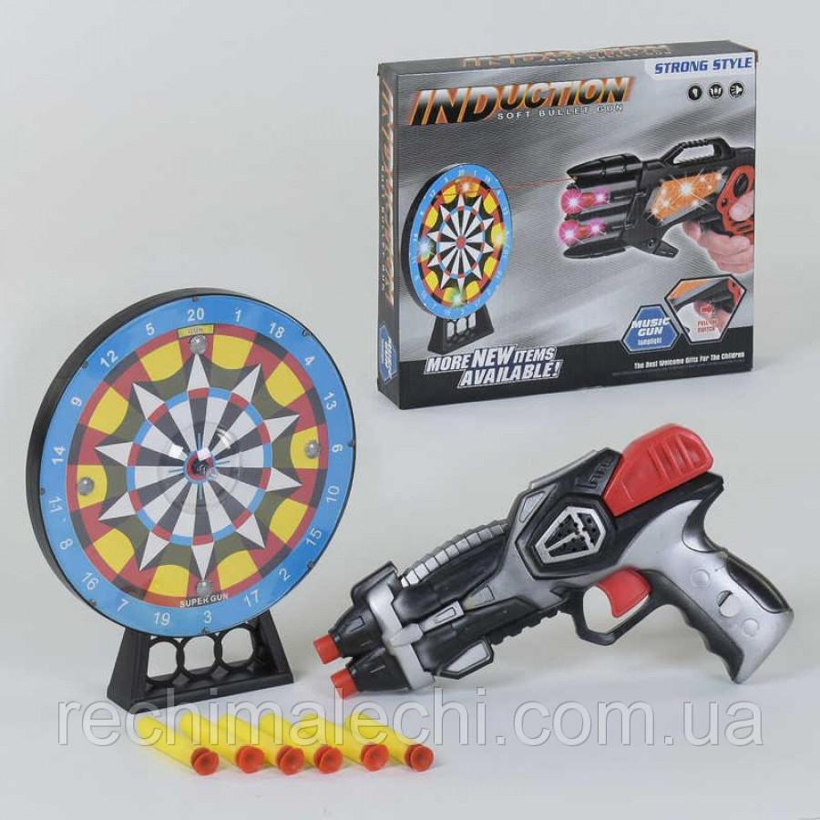 Пістолет з мишенью 369-3 (48/2) со световыми и звуковыми эффектами, в коробке