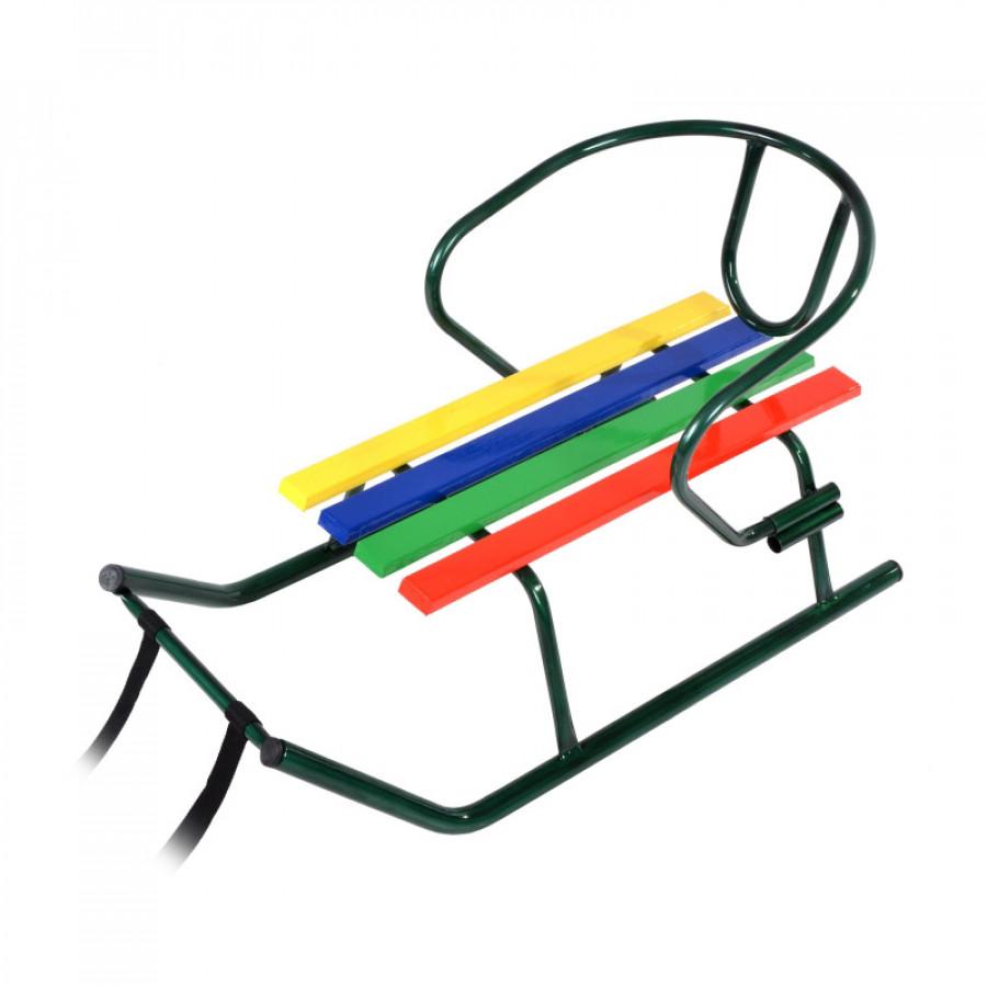 Санчата 'МАЛЮК' зелені,лак + спинка,некольорові планки (пакування:поліет.кульок)