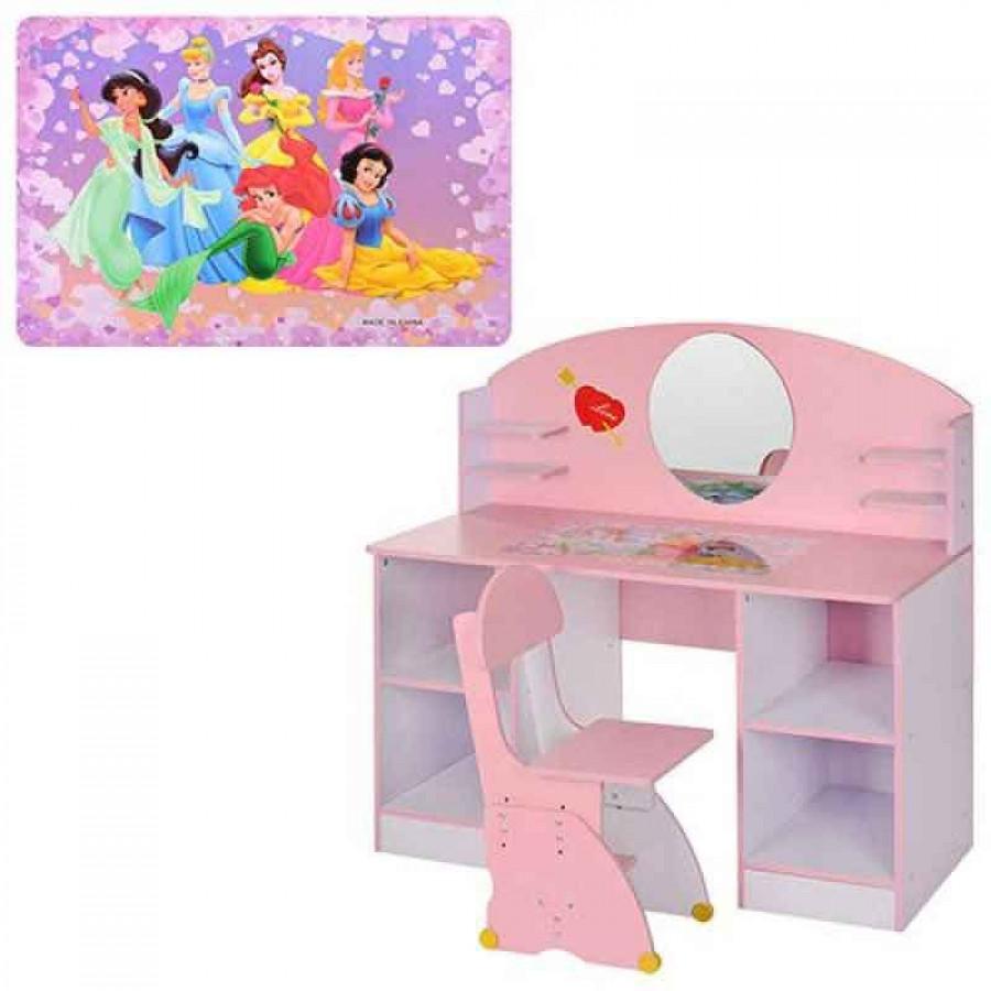 Трюмо (1шт) дерев'яне,дзеркало,полички,рожев,упаков. в 2 коробках, 73-58-13см,123-83-8см