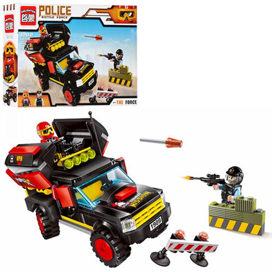 Конструктор BRICK (24шт) поліція, машина, фігурки 2шт, 240дет, в коробці, 32,5-22-6см