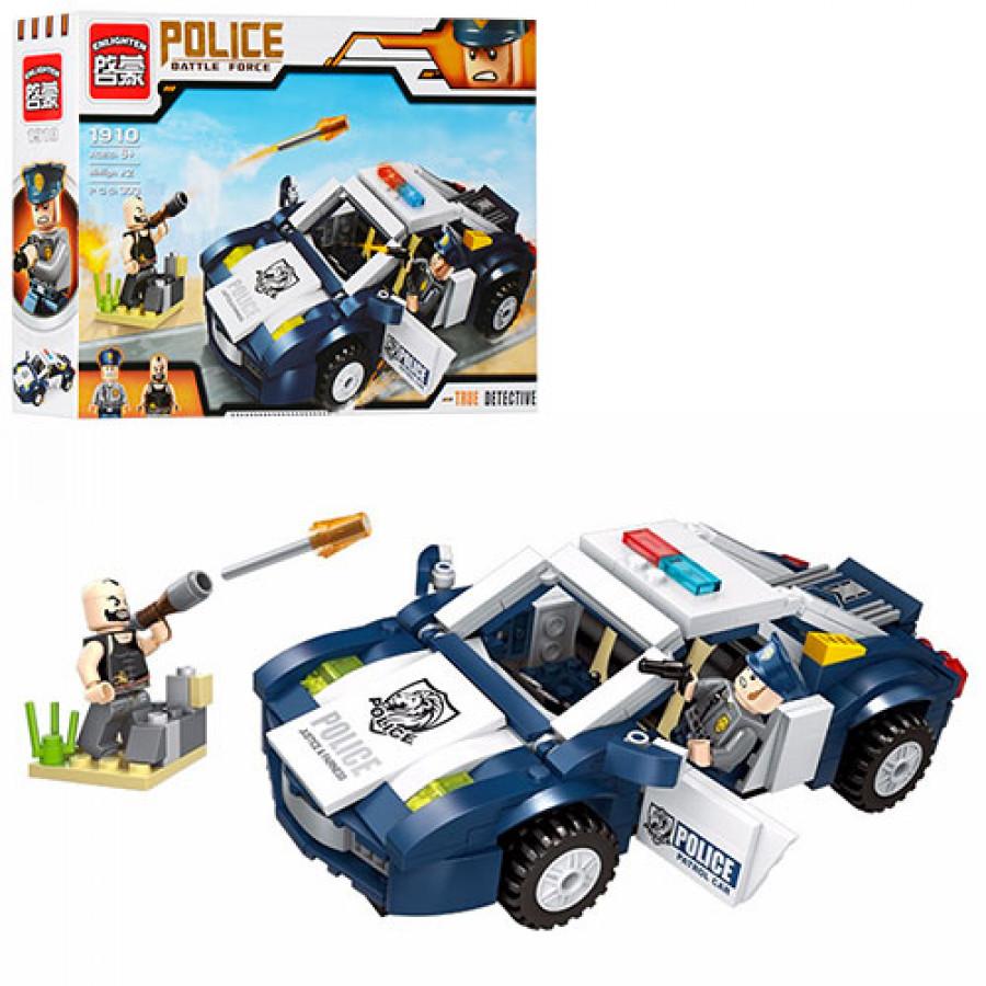 Конструктор BRICK (24шт) поліція, машина, фігурки 2шт, 303дет, в коробці, 32,5-22-6см