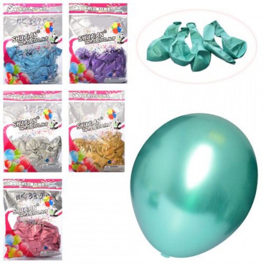 Кульки надувні MK3395-2 (50шт) 10дюймів,металік,50шт, 6кольор, в кульку,21-30-2см