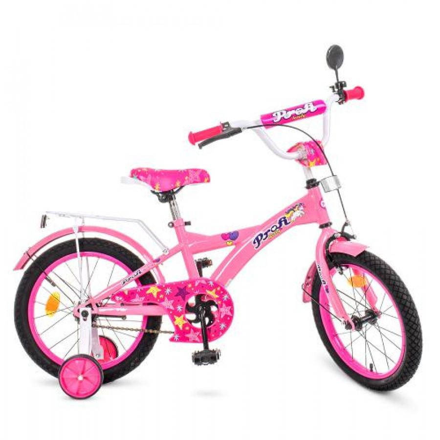 Велосипед дитячий PROF1 16 '(1шт) Original girl, рожевий, дзвоник, доп.колеса