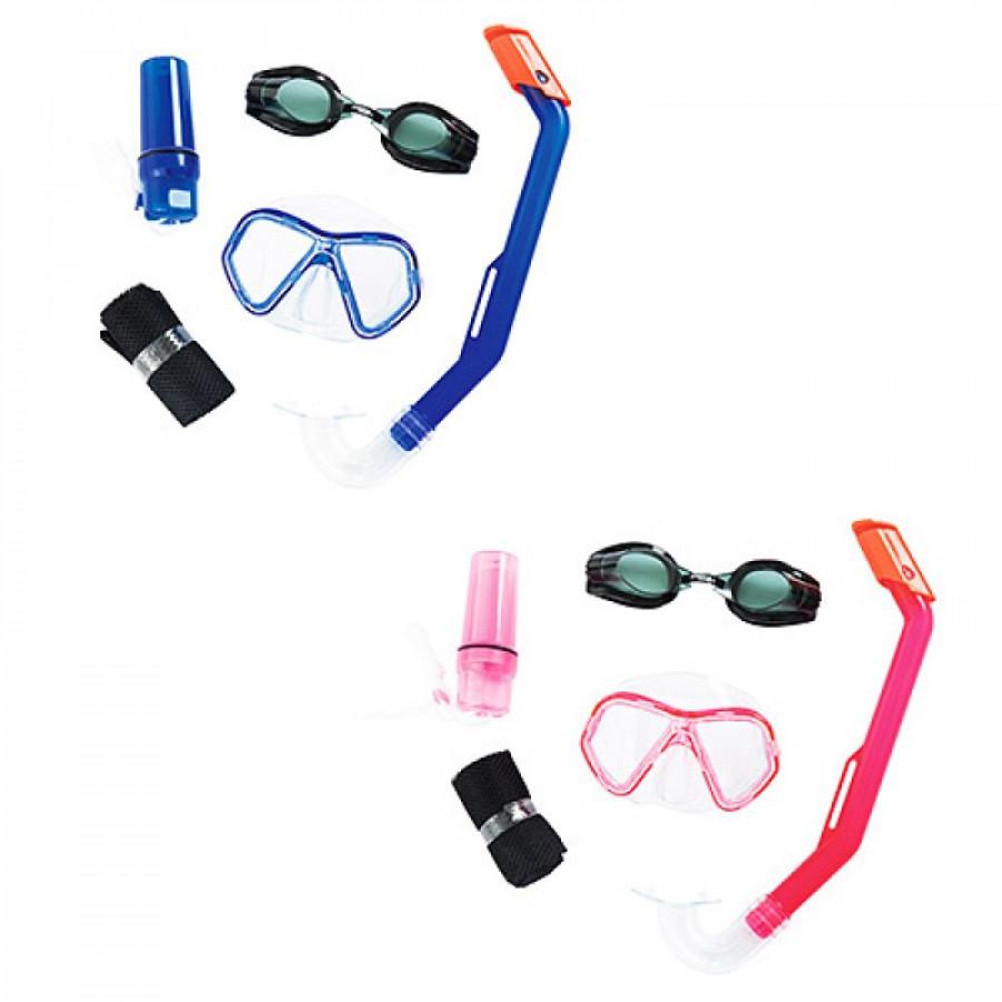 Набір для плавання 24031 (6шт) маска, трубка, окуляри, 2 кольори,
