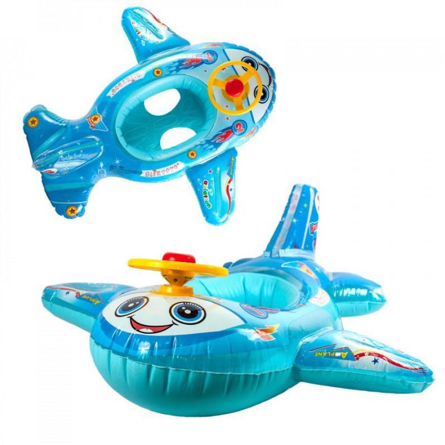 Плотик (24шт) літак, 83-76см, руль-пискавка, 3кольори, в кульку, 19-20-6см