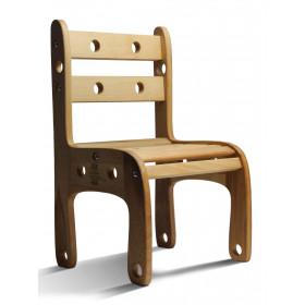 Стільчик дерев'яний 'Вудік' ЕКО (1 ростова група)h1=52см.,h2=26см. сидіння 34Х25см