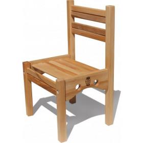 Стільчик дерев'яний 'Ведмедик' ЕКО (1 ростова група)h1=52см.,h2=26см.сидіння 34Х26см