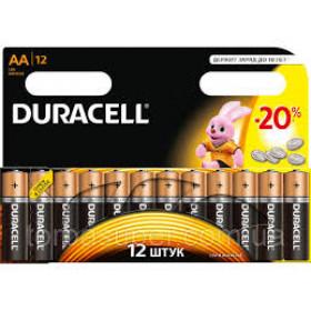 Батарейка DURASELL R6 ( Alkaline)блістер 1*12  уп 144 шт