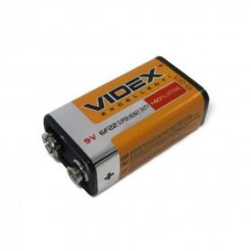 Батарейка Videx 6F22/9V (Крона) SHRINK CARD (уп.24шт)