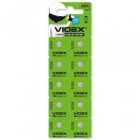 Батарейка Videx AG4 (LR626) (ціна за блістер) blister 10 шт