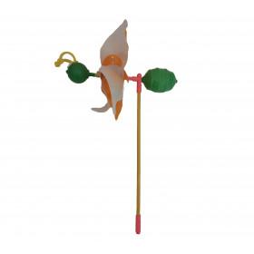 Вітрячок (288шт) вертушка бджілка, розмір діам. 25см, палочка 35см, розібр.