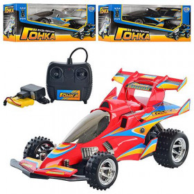 Машина (12шт) р/к, акум, гонка, (червона, чорна), в коробці, 37-16-17см