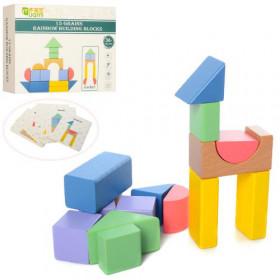 Дерев'яна іграшка Геометрика (72шт) 15дет, в коробці, 20,5-15,5-4см