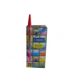 Ручка BEIFA червона 50шт.уп.  ціна за 1шт.
