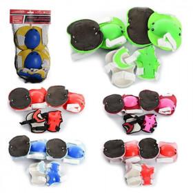 Захист (50шт) для колін, ліктів, 6 кольорів, в сетці, 19-34-5см