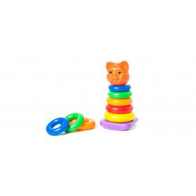 Пірамідка-качалка Кішка 13-12,5-25,5 см