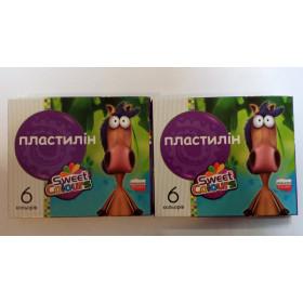 Пластилін SweetColours 6 кольорів, 'Круглий' 11-9-1 см