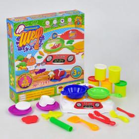 Тісто для ліпки 'Маленький Шеф кухар' 7297 (12) 'FUN GAME', звук, в коробці