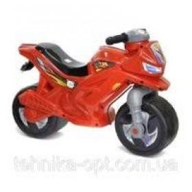 Мотоцикл Беговел 2-х колісний з сигналом  червоний