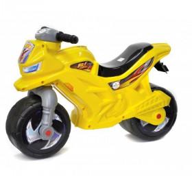 Мотоцикл Беговел 2-х колісний з сигналом лимонний