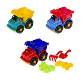 Машинка Самоскид 'Тотошка' №2 (машина, лоп. и граб. ЛГ4, две пас. П4), сетка п/м