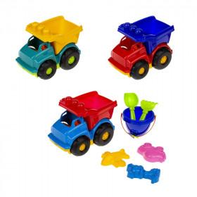 Машинка Самоскид 'Тотошка' №3 (машина, відерко, лоп. и граб. ЛГ3, три пас. П3), сетка п/м