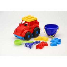 Трактор 'Кузнечик' №3 (трактор, відерко, лоп. и граб. ЛГ3, три пас. П3), сетка п/м
