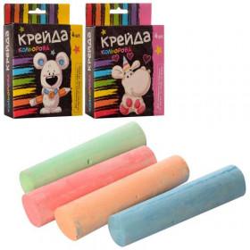 КРЕЙДА MK 0096 (108шт) 4 шт, большой, цветной (4 цвета), 2 вида, в кор-ке, 10,5-13,5-2,5см