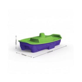 Пісочниця' фіолетовий низ, салатова кришка артикул 03355/2